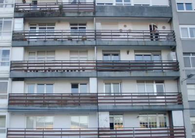 Rehabilitación de fachada en Salvador Allende, El Burgo.